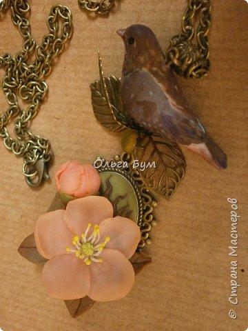 "Кулон с птичкой ""Нескучный сад"" фото 10"