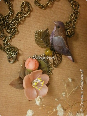 "Кулон с птичкой ""Нескучный сад"" фото 12"