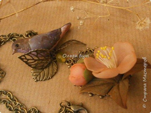 "Кулон с птичкой ""Нескучный сад"" фото 11"