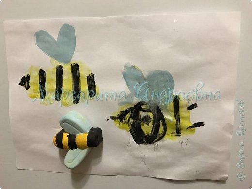Доброго времени суток! Ещё одной темой наших с сынулей игровых занятий стали пчёлки.  Что же мы про них узнавали? А вот:  Пчела - это удивительное насекомое, которое дает человеку очень вкусный и полезный продукт - мед. Тело пчелы имеет красивую, полосатую желто-черную окраску. У пчёл 5глаз. Питаются пчелы пыльцой и нектаром, получая из них и энергию, и питательные вещества.  Пчелки помогают не только людям, но и растениям. На своих лапках они переносят пыльцу с одного цветка на другой, опыляя их. Благодаря чему, растения и деревья дают плоды и семена.  фото 6