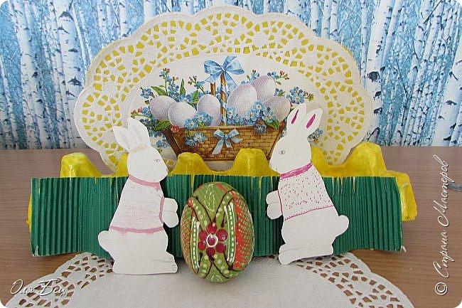 С Праздником Светлой Пасхи всех жителей Страны Мастеров! Вот такие композиции из лотков для яиц мы смастерили с учениками в классе:) фото 1