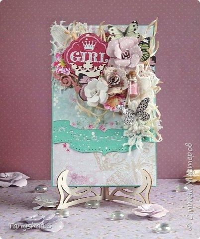 Привет,привет!!! Покажу Вам еще открыточки. Первая открыточка с вышитой кошечкой. фото 7