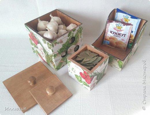 Короба для хранения чеснока и специй фото 4