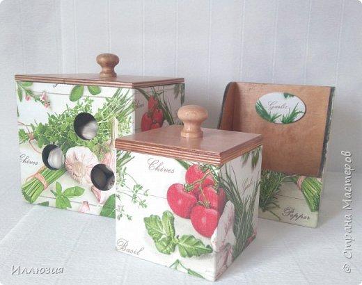 Короба для хранения чеснока и специй фото 3