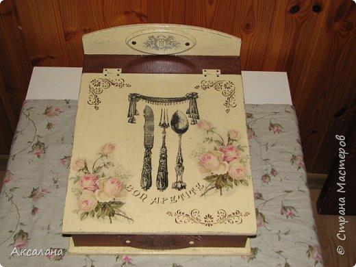 Шкатулка для хранения столовых приборов фото 2