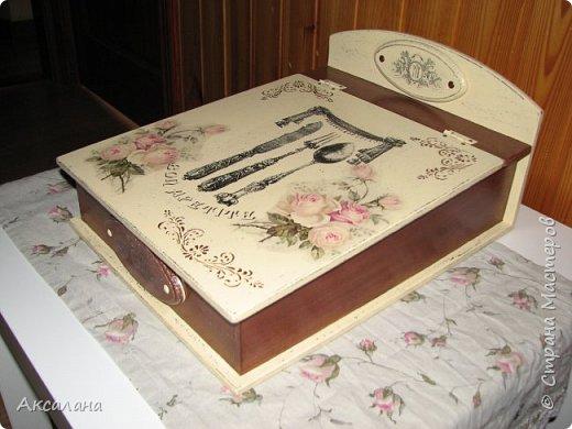 Шкатулка для хранения столовых приборов фото 1