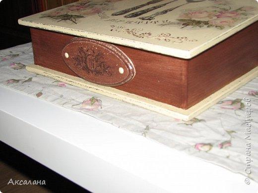 Шкатулка для хранения столовых приборов фото 3