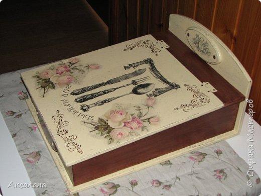 Шкатулка для хранения столовых приборов фото 6