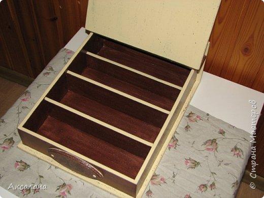 Шкатулка для хранения столовых приборов фото 10
