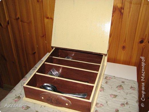Шкатулка для хранения столовых приборов фото 11