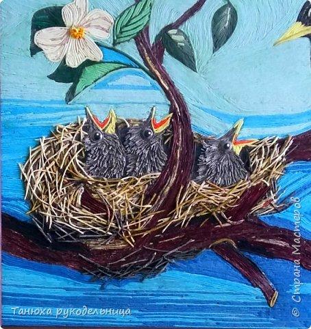 """Картина на конкурс в технике пейп-арт Татьяны Сорокиной. Картина называется """"Капель"""".  фото 5"""