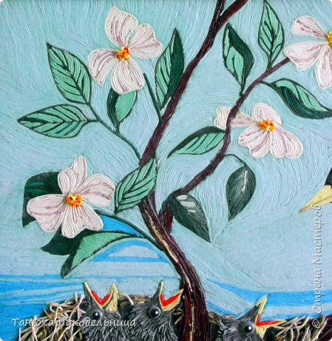 """Картина на конкурс в технике пейп-арт Татьяны Сорокиной. Картина называется """"Капель"""".  фото 7"""