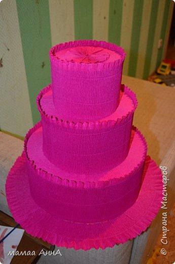 Здравствуйте, жители СМ! Давно хотела сделать такой торт. И вот появился повод. Дочка пошла в садик, и скоро ей 4  годика. Тортик рассчитан на 19 ребятишек.Спасибо olyat за МК http://stranamasterov.ru/node/925799?c=favorite фото 2