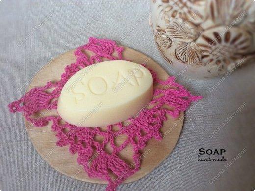 Мыло из мыльной основы.  С облепиховым маслом, маслом миндаля и отдушкой орхидея.  фото 1