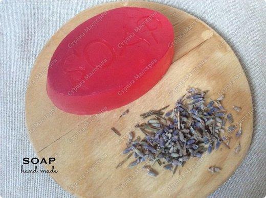 Мыло из мыльной основы.  С облепиховым маслом, маслом миндаля и отдушкой орхидея.  фото 4