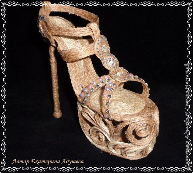 Здравствуйте всем  кто заглянул ко мне на страницу ! Хочу предоставить Вашему вниманию еще одну маю работу, идея появилась совсем случайно видимо весна влияет охота уже  одеть более легкую обувь. Но эта работа такая для домашнего декора. фото 1