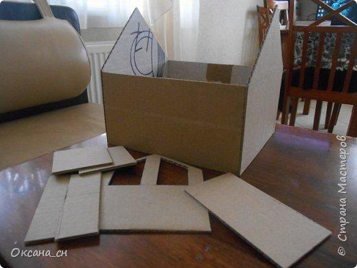 Дорогие мастера, хочу предложить небольшой МК по изготовлению макета загородного дома. Жилой дом изготовлен из картона и представляет собой двухэтажный дом с балконом, террасой, зимним садом, гаражом и выходами с двух сторон. Проект дома я взяла здесь: http://piterplan.ru/projects-of-the-houses-from-concrete/projects-2-floors/4643-nadejda-123pp.html Чтобы изготовить макет загородного жилого дома нам необходимо иметь: лист ДВП размером 45 х 32 см, толстый картон из ящиков, белый картон, двустороннюю бумагу вишневого и сине-серого цветов, распечатанные фактуры камня на фундамент, брусчатки, плитки на террасу, черепицы на крышу, водоэмульсионную краску розового цвета, канцелярский нож, клей «Титан», линейка, карандаш. Можно приступать к работе... фото 2