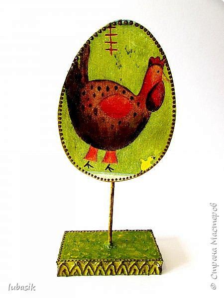 Дорогие мастера и мастерицы, от всей души поздравляю вас со Светлым Праздником Пасхи! Мира вам всем, радости, благополучия и здоровья! Ежегодно делаю сувениры к светлому празднику Пасхи. В этом году были большие задумки, но много чего сделать не успела. Давно были в плане такие яйца из картона на подставочках.  фото 3