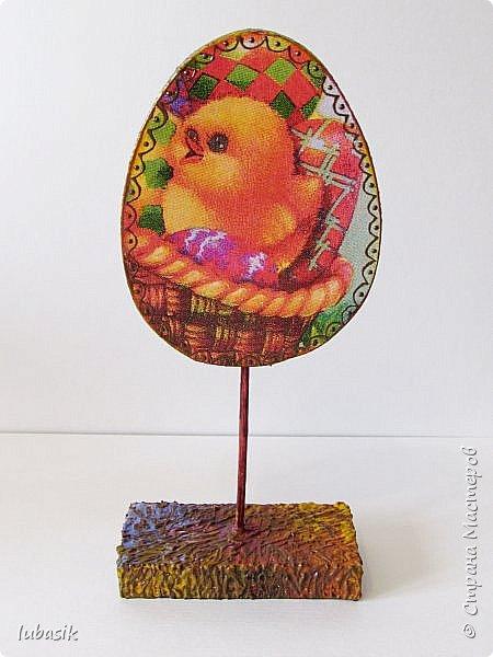 Дорогие мастера и мастерицы, от всей души поздравляю вас со Светлым Праздником Пасхи! Мира вам всем, радости, благополучия и здоровья! Ежегодно делаю сувениры к светлому празднику Пасхи. В этом году были большие задумки, но много чего сделать не успела. Давно были в плане такие яйца из картона на подставочках.  фото 10