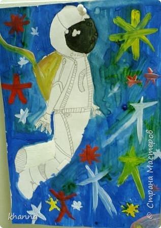"""""""Трио"""" автор Миляуша, ученица 6 класса пастэль, гуашь фото 7"""
