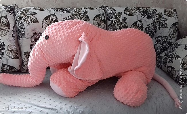 Здравствуйте! Моя страсть к Индии дала всходы.  Слон индийский, розовый,  мягкий. Плюшевый фото 4