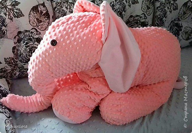Здравствуйте! Моя страсть к Индии дала всходы.  Слон индийский, розовый,  мягкий. Плюшевый фото 7
