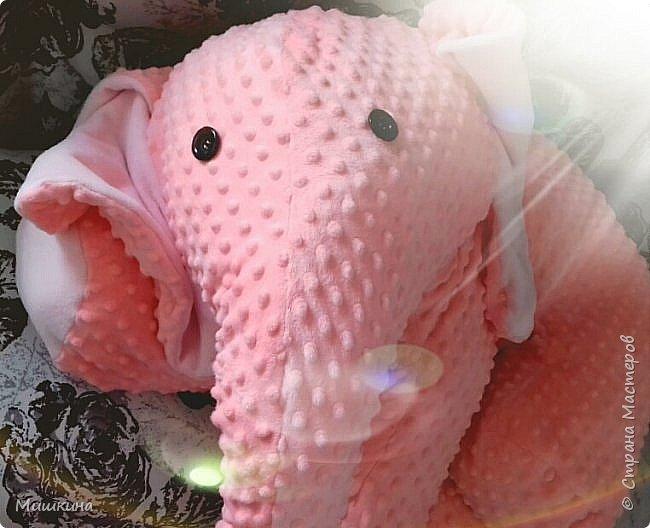 Здравствуйте! Моя страсть к Индии дала всходы.  Слон индийский, розовый,  мягкий. Плюшевый фото 5