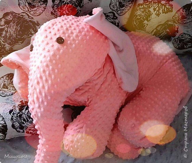 Здравствуйте! Моя страсть к Индии дала всходы.  Слон индийский, розовый,  мягкий. Плюшевый фото 1