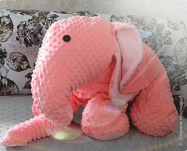 Здравствуйте! Моя страсть к Индии дала всходы.  Слон индийский, розовый,  мягкий. Плюшевый фото 3