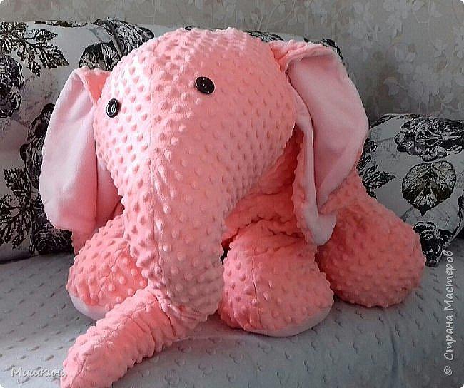 Здравствуйте! Моя страсть к Индии дала всходы.  Слон индийский, розовый,  мягкий. Плюшевый фото 2