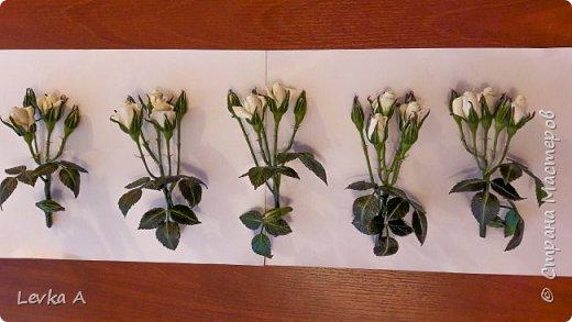 """Материал: холодный фарфор,подкрашены""""маслом"""", в вазе и на листьях -имитатор воды фото 4"""