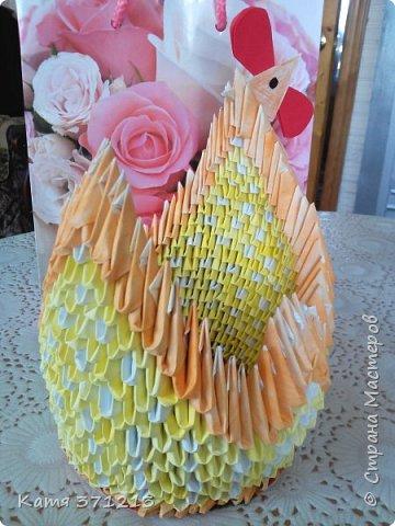 Доброго дня! Поздравляю всех с прошедшей Пасхой.Из модульного оригами я сделала курочку для моей бабушки. Делала долго,но результатом довольна. МКhttp://stranamasterov.ru/node/176705 фото 4