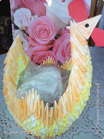 Доброго дня! Поздравляю всех с прошедшей Пасхой.Из модульного оригами я сделала курочку для моей бабушки. Делала долго,но результатом довольна. МКhttp://stranamasterov.ru/node/176705 фото 6