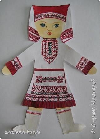 Здравствуйте мастера и мастерицы. Вашему вниманию представляю девочку в марийском костюме. фото 1