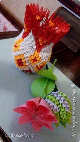 Тюльпан и ромашка в вазе. фото 5