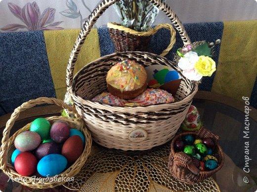 Здравствуйте жителии гости чудеснойСМ!!! Всех с праздником Светлой Пасхи!!! Уменя всего одна корзинка пока пасхальная.  Очень хотелось легкой , светлой и воздушеой. Вроди бы получилась Вам судить. фото 6