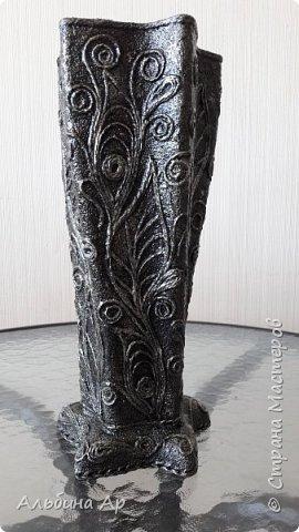 Здравствуйте! Сделала очередную вазу. В какой это технике- никак определиться не могу.  фото 1