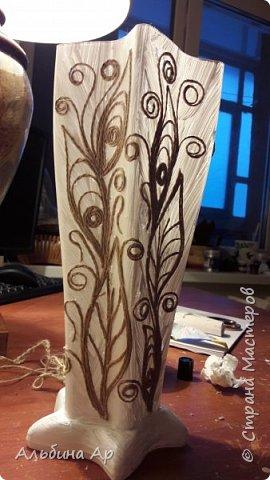 Здравствуйте! Сделала очередную вазу. В какой это технике- никак определиться не могу.  фото 2