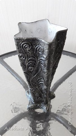 Здравствуйте! Сделала очередную вазу. В какой это технике- никак определиться не могу.  фото 4