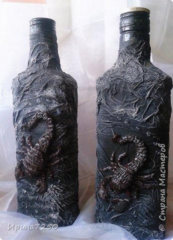 скорпион на бутылке ( по мотивам работы в инете)