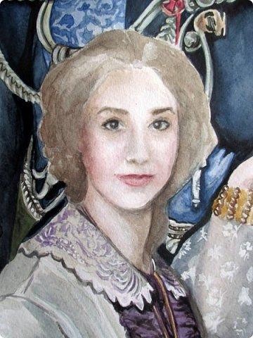 Семейный портрет в стиле 19 века. Акварель. Формат А2.   фото 7