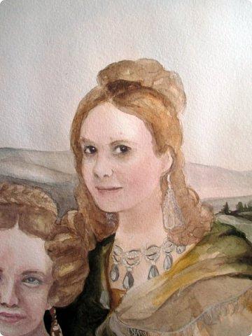 Семейный портрет в стиле 19 века. Акварель. Формат А2.   фото 10