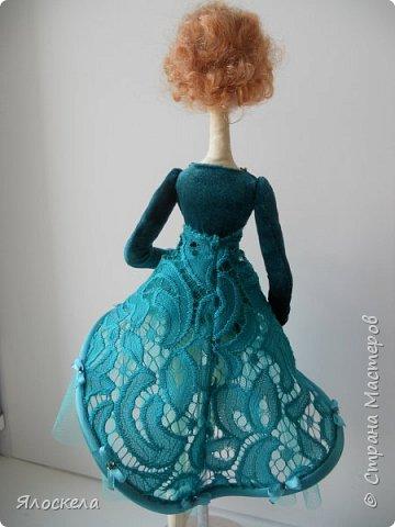 Балерина ростом 40см. Стоит на подставке.Тело из американского хлопка. фото 4