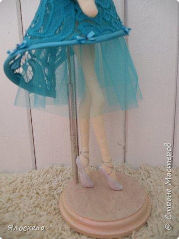 Балерина ростом 40см. Стоит на подставке.Тело из американского хлопка. фото 5