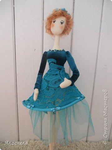 Балерина ростом 40см. Стоит на подставке.Тело из американского хлопка. фото 3