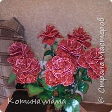 Розы.в натуральную величину.листья покупные... фото 1