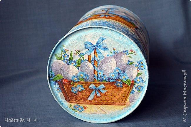 Здравствуйте, мои дорогие! С праздником вас Светлой Пасхи! Сегодня я покажу, как можно превратить баночки от детского питания в расписную тару для конфет, а так же мелких подарочков. фото 5