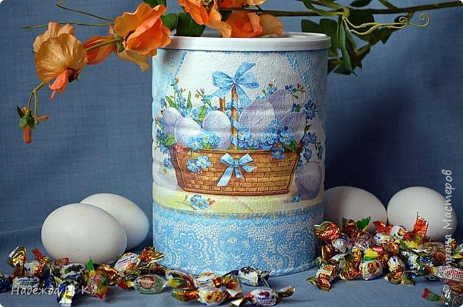 Здравствуйте, мои дорогие! С праздником вас Светлой Пасхи! Сегодня я покажу, как можно превратить баночки от детского питания в расписную тару для конфет, а так же мелких подарочков. фото 1