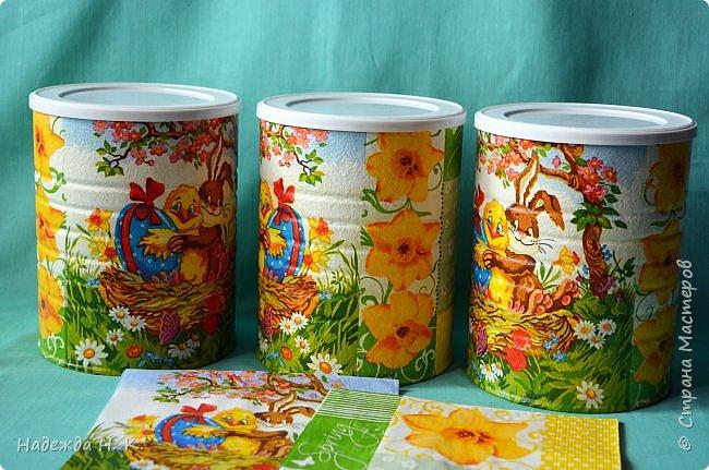 Здравствуйте, мои дорогие! С праздником вас Светлой Пасхи! Сегодня я покажу, как можно превратить баночки от детского питания в расписную тару для конфет, а так же мелких подарочков. фото 14