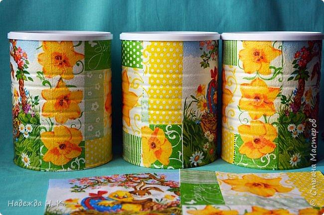 Здравствуйте, мои дорогие! С праздником вас Светлой Пасхи! Сегодня я покажу, как можно превратить баночки от детского питания в расписную тару для конфет, а так же мелких подарочков. фото 15